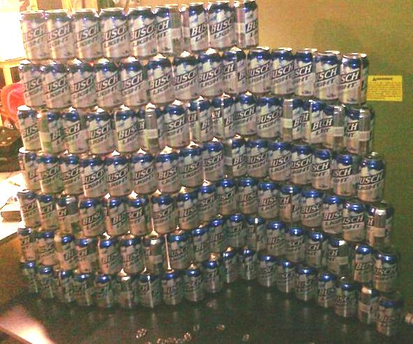 Beeramid at Midnight. Notice the wave to the wall. Truly a Marvel of Engineering.